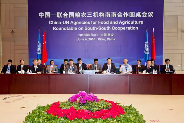 中国—联合国粮农三机构南南合作圆桌会议在西安召开