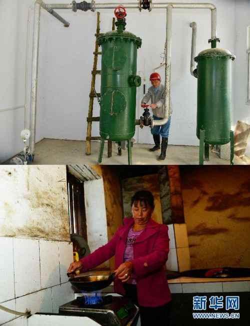 这是10月21日拍摄的湖北省鹤峰县太平镇龙潭村大型沼气工程基地。